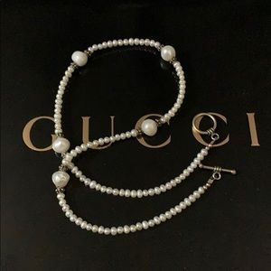Jewelry - Real pearl and sterling necklace 18in